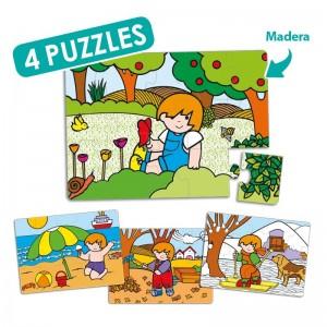 Set puzzles zaro las 4 estaciones (4 uds)