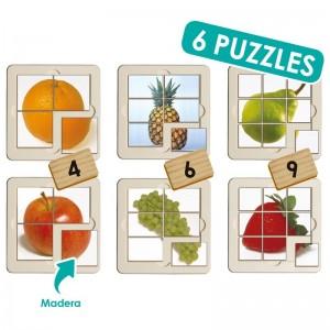 Set puzzle foto - frutas (6 uds)