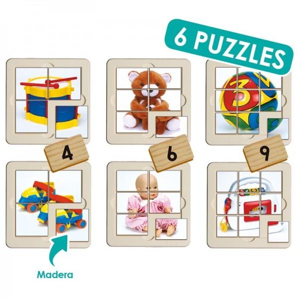 Set puzzle foto - juguetes (6 uds)
