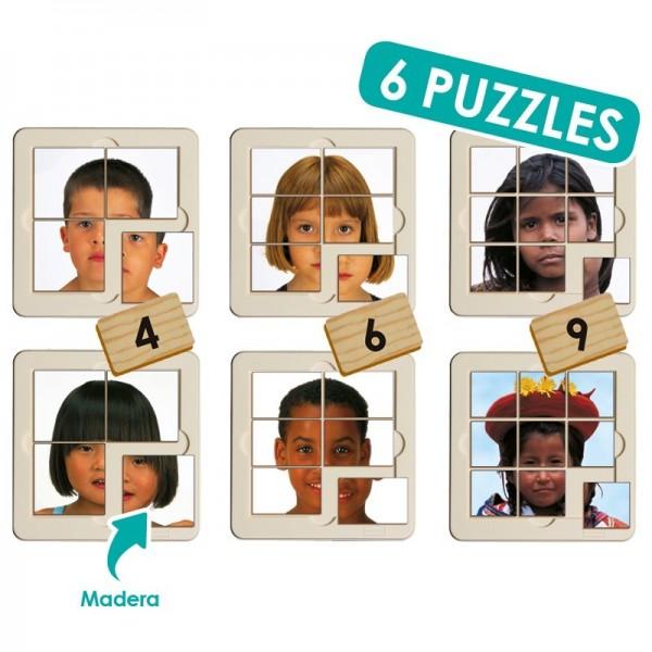 Set puzzle foto - niños del mundo (6 uds)
