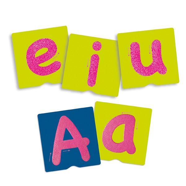Tacto fichas de letras y signos de...