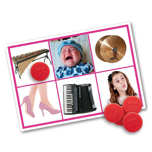 Bingo: acciones e instrumentos musicales