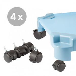 Set ruedas con freno (4 uds)