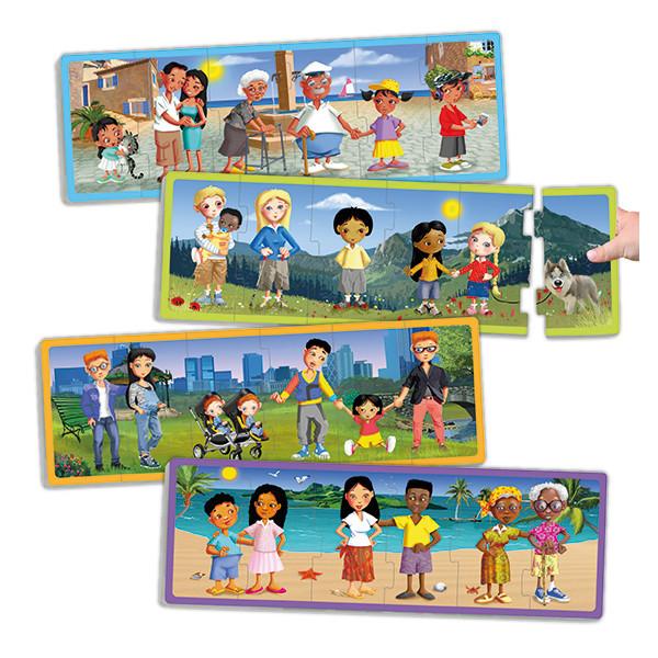 Set puzzles familias del mundo actual...