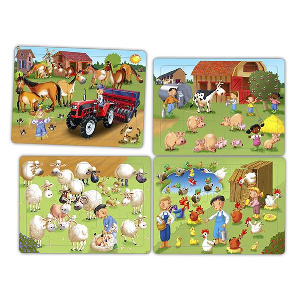 Set puzzles cooperativos - la granja...
