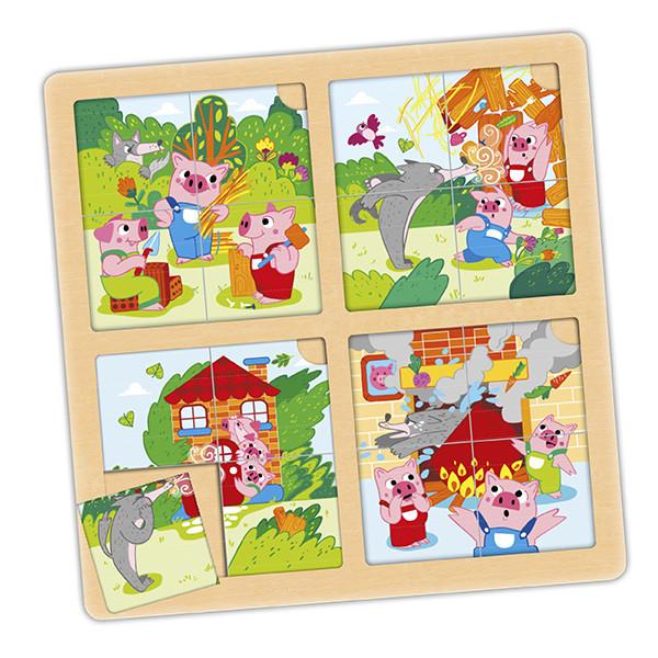 Set puzzle-secuencias: Los 3 cerditos...
