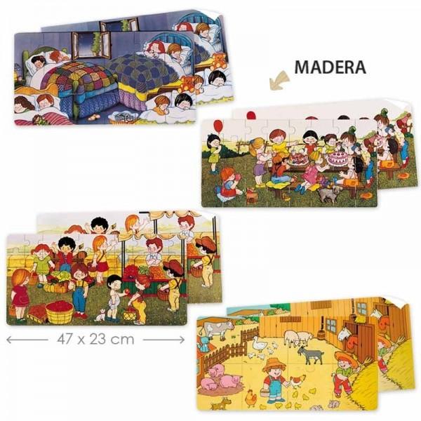 Pack 4 puzzles alargados - 01
