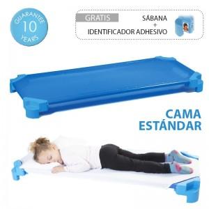 Cama infantil apilable AKROS (con sábana incluida) - ST ( 131 x 55 x 11 cm )