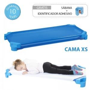 Cama infantil apilable AKROS (con sábana incluida) - XS (110 x 55 x 11 cm)