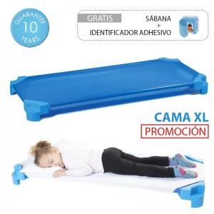 Cama infantil apilable AKROS (con sábana incluida)
