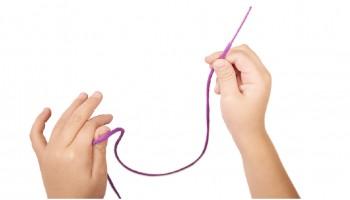 Cordones ergónomicos para coser y enlazar
